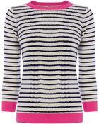Oasis Stripe Cute Knit Jumper - Lyst