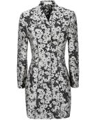 Stella McCartney Floral Jacquard Coat - Lyst