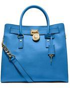 MICHAEL Michael Kors Hamilton Large Leather Tote Bag - Lyst