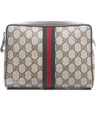 Gucci Pre-owned Web Vintage Cosmetic Pouch - Lyst