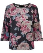 Oasis Oversized Floral Sweat - Lyst