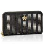 Tory Burch Robinson Perforated Continental Zip Wallet - Lyst