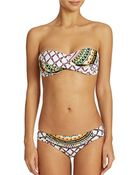 Trina Turk Kon Tiki Bandeau-Top Bikini - Lyst