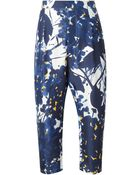 Marni Flower Print Trousers - Lyst