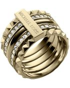 Michael Kors Stacked Pyramid Pave Ring - Lyst