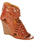 Nine West Mexicali Peep Toe Sandals - Lyst