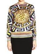 Versace Sweater Fleece With Print - Lyst