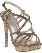 Pelle Moda Flirt Evening Sandal Bronze Snake - Lyst