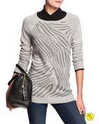 Banana Republic Factory Animal-Print Merino Sweater - Lyst