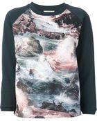 Carven Sea Print Sweatshirt - Lyst