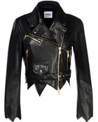 Moschino Leather Outerwear - Lyst