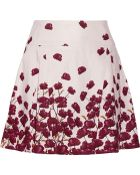 Suno Floral-Print Cotton-Blend Mini Skirt - Lyst