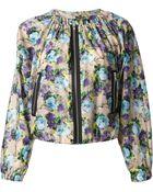 MSGM Floral Print Jacket - Lyst