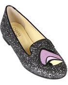 Chiara Ferragni Disney Maleficent Glittered Loafers - Lyst