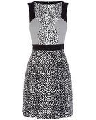 Karen Millen Texture Jacquard Panel Dress - Lyst