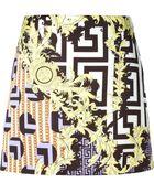 Versace Baroque Geometric Print Skirt - Lyst