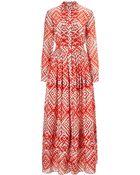 Temperley London Long Ripple Print Dress - Lyst