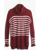 Madewell Ribbed Turtleneck Sweater In Stripe - Lyst
