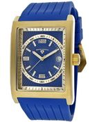 Swiss Legend Limousine Blue Silicone And Dial Gold-Tone Case And Accent - Lyst