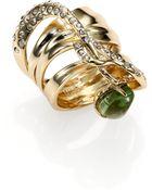 Alexis Bittar Miss Havisham Kinetic Labradorite Crystal Vine Dangle Cocktail Ring - Lyst