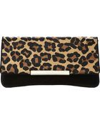 Dune Boost Suede Fold-Over Clutch Bag - Lyst