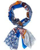 Diane von Furstenberg Silk New Boomerang Scarf - Lyst