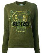 Kenzo Tiger Sweatshirt Dark Khaki - Lyst
