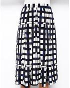 Asos Midi Skirt In Check Print - Lyst