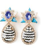 Shourouk 'Galaxy' Clip-On Earrings - Lyst