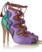 Brian Atwood Kayla Leather Sandals - Lyst