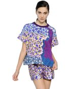 Peter Pilotto Short Sleeve Printed Cotton Sweatshirt - Lyst