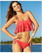 Kenneth Cole Reaction Crochet Sidetie Bikini Bottom - Lyst