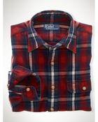 Ralph Lauren Custom-Fit Plaid Workshirt - Lyst