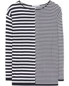 T By Alexander Wang Cotton-Blend Striped Top - Lyst