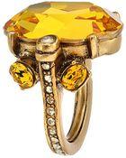 Oscar de la Renta Large Jewel Ring - Lyst
