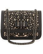 Christian Louboutin Sweet Charity Calfskin Shoulder Bag - Lyst