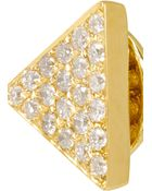 Anita Ko Triangle 18-Karat Gold Diamond Earrings - Lyst