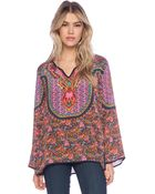 Tolani Salina Silk Printed Tunic - Lyst