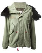 History Repeats Cropped Parka - Lyst
