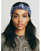 Free People Womens Printed Knotted Turban - Lyst