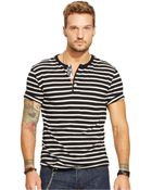 Denim & Supply Ralph Lauren Striped Cotton Henley - Lyst