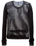 Rick Owens Semi Sheer Knitted Sweater - Lyst