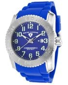 Swiss Legend Commander Ii Blue Silicone And Dial - Lyst