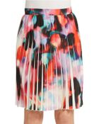 French Connection Miami Graffiti Pleated Skirt - Lyst