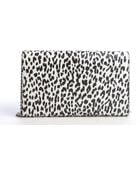 Saint Laurent White and Black Leather Animal Print Braided Chain Clutch - Lyst