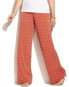 Michael Kors Michael Plus Size Wide-Leg Diamond-Print Pants - Lyst