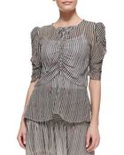 Etoile Isabel Marant Caja Printed Ruchedsleeve Top - Lyst