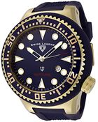 Swiss Legend Neptune (52 Mm) Navy Blue Silicone Navy Blue Dial Gold-Tone Case - Lyst