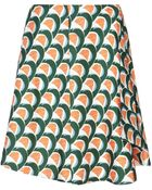 J.W. Anderson Green Silk Wave Flared Skirt - Lyst