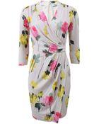 Blumarine Rose Print Wrap Dress - Lyst